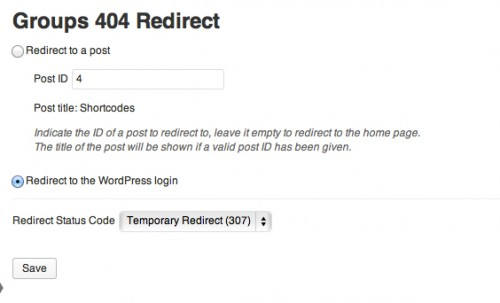 Groups 404 Redirect