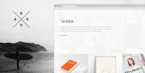 ROUA - Hipster Portfolio & Blogging WP Theme