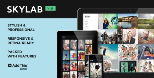 Skylab Portfolio, Photography WordPress Theme