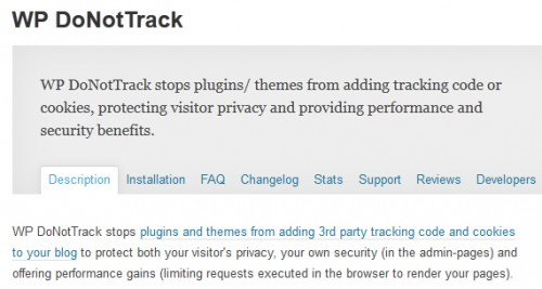 WP DoNotTrack