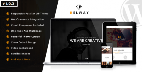 Relway - Responsive Parallax One Page WP Theme