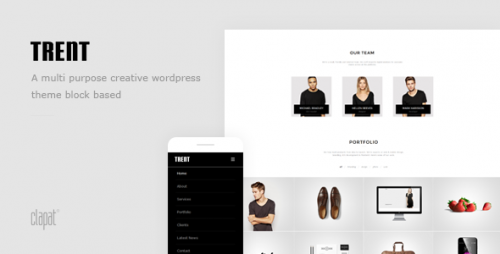 Trent - WordPress Responsive One Page Parallax Theme