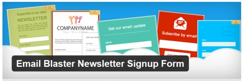 Email Blaster Newsletter Signup Form