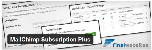 MailChimp Subscription Plus