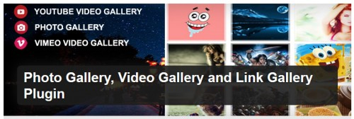 Photo Gallery, Video Gallery and Link Gallery Plugin