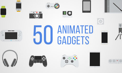 50 Animated Gadgets Icons