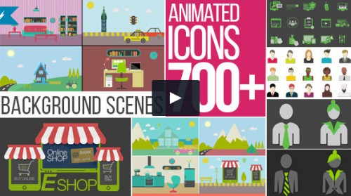 700+ Animated Flat Icons
