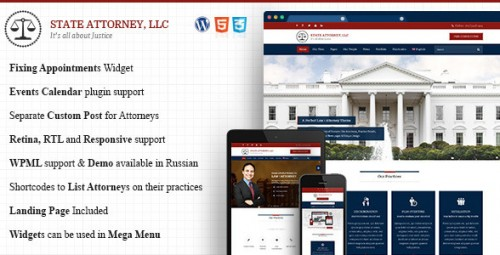 Attorney & Law - Lawyers WordPress Theme