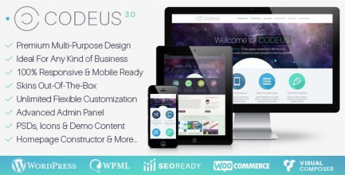Codeus - Multi-Purpose Responsive WordPress Theme