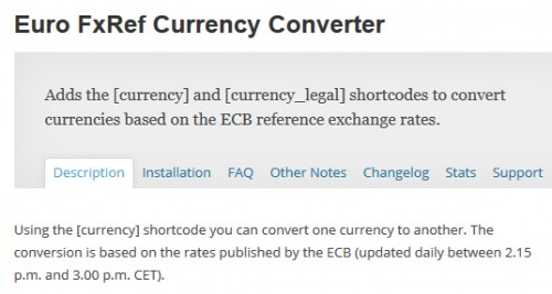 Euro FxRef Currency Converter