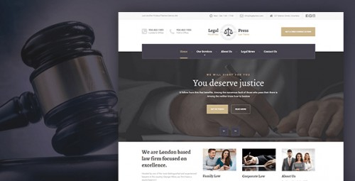LegalPress - Law, Attorney, Insurance, Legal Theme