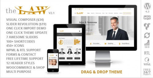 The Law - Lawyer Legal Attorney Responsive Theme
