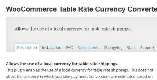 WooCommerce Table Rate Currency Converter