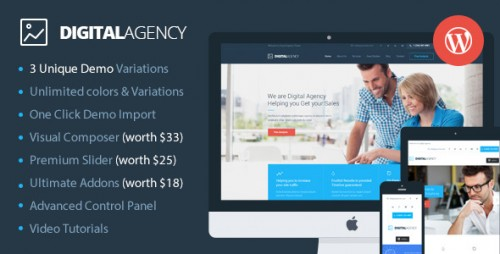 Digital Agency - SEO, Marketing WordPress Theme